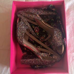 Betsey Johnson Rainbow Glitter Size 10 shoes